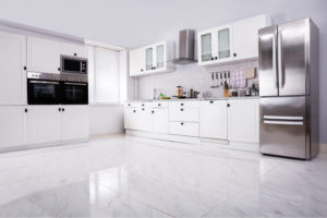 Deep Cleaned White Kitchen